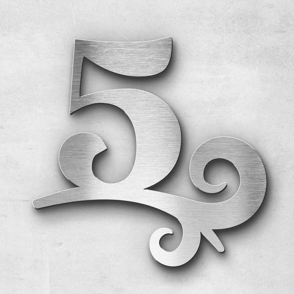 House number - Series Design one-digit