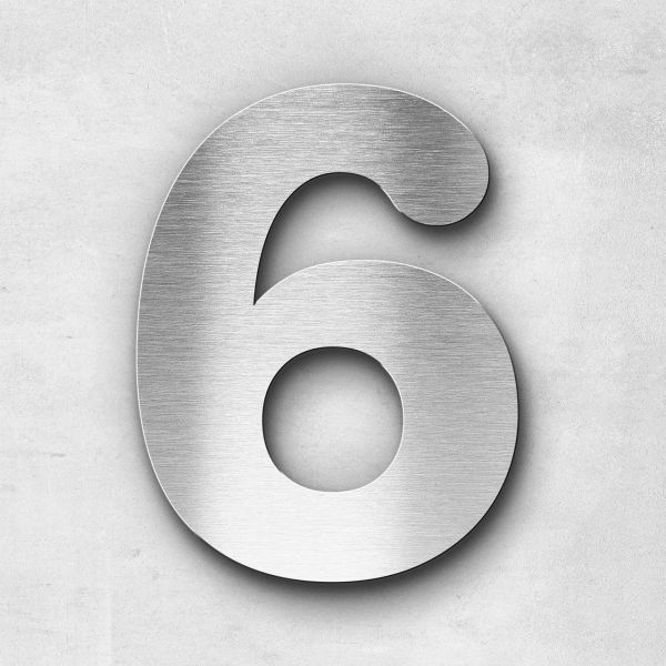 House Number 6 Stainless Steel Classic Series