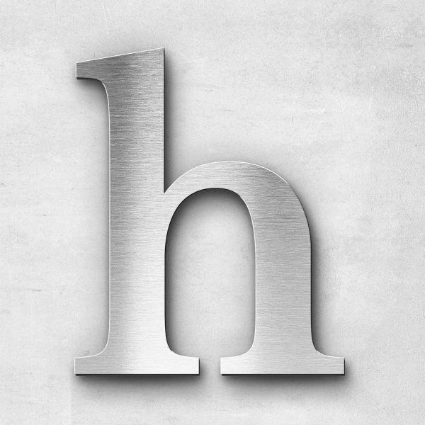 Metal Letter h Lowercase - Serif Series