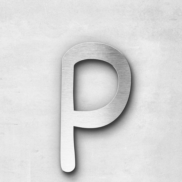 Metal Letter p Lowercase - Malta Series
