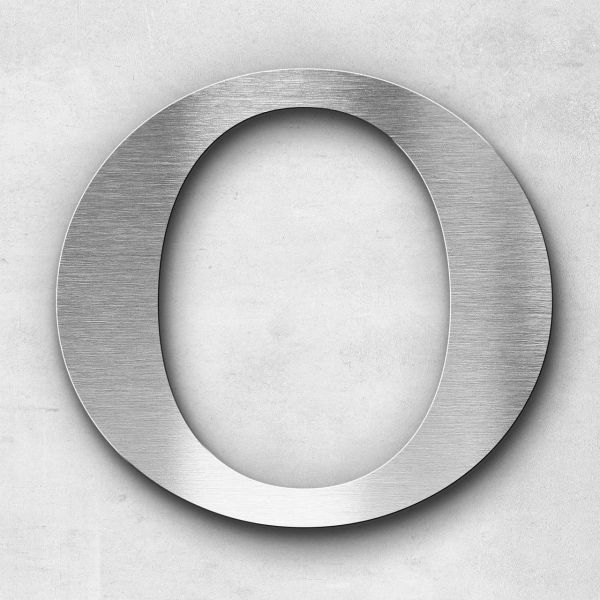Metal Letter O Uppercase - Serif Series