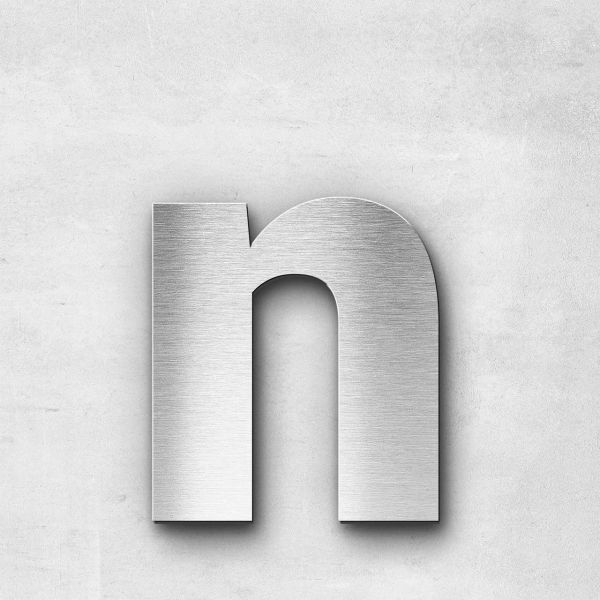 Metal Letter n Lowercase - Sans Series