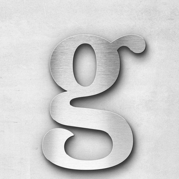 Metal Letter g Lowercase - Serif Series