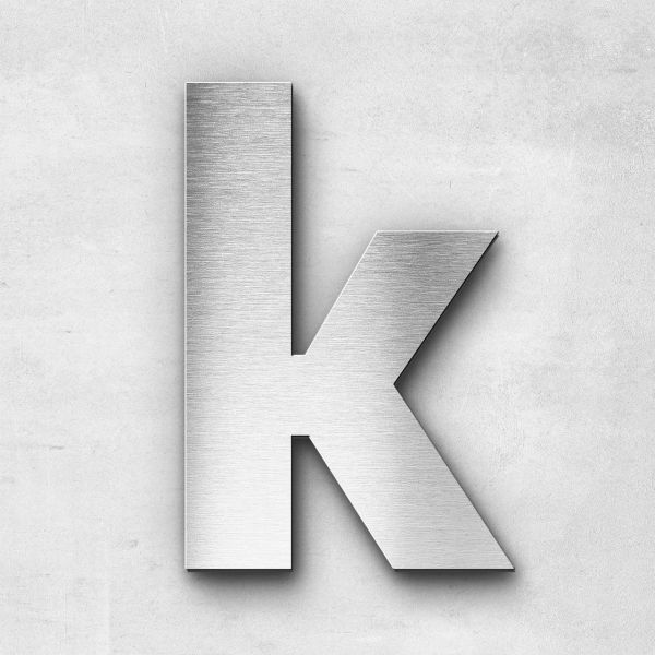 Metal Letter k Lowercase - Sans Series