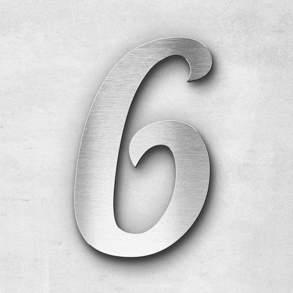 House Number 6 Stainless Steel Elegant Series
