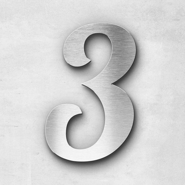 House Number 3 Stainless Steel Elegant Series