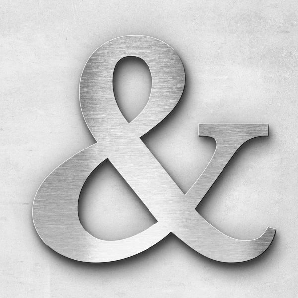 Metal Letter Ampersand Special Character - Serif Series