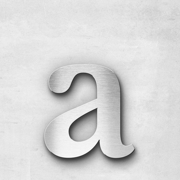 Metal Letter a Lowercase - Serif Series