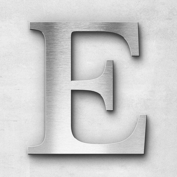 Metal Letter E Uppercase - Serif Series
