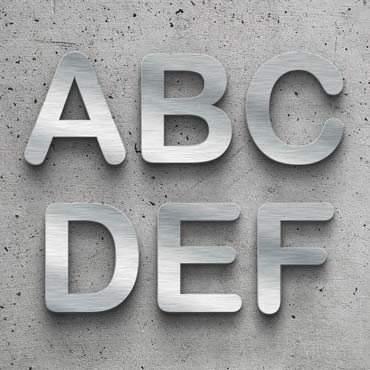 choose your favourite metal letter design