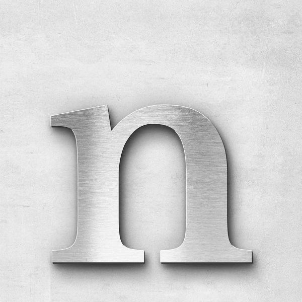 Metal Letter n Lowercase - Serif Series