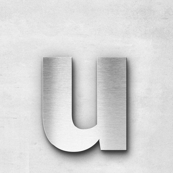 Metal Letter u Lowercase - Sans Series