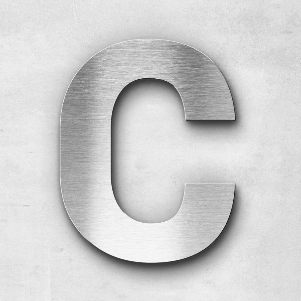 Metal Letter C Uppercase - Sans Series