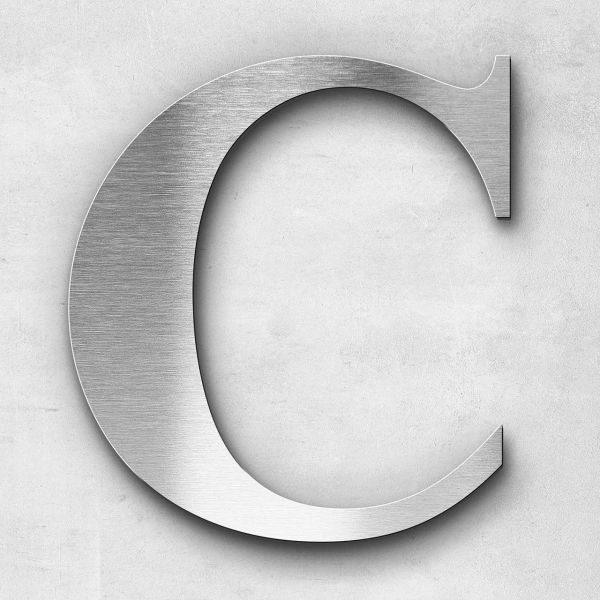 Metal letter C - Series Times