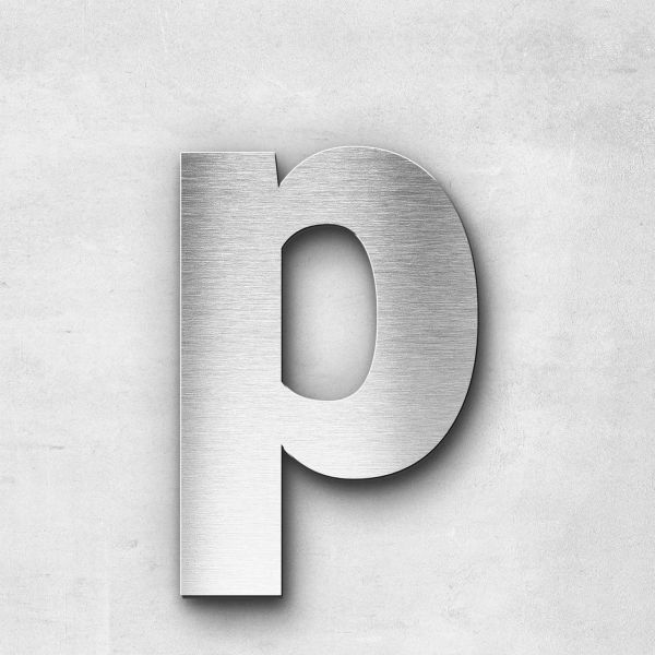 Metal Letter p Lowercase - Sans Series