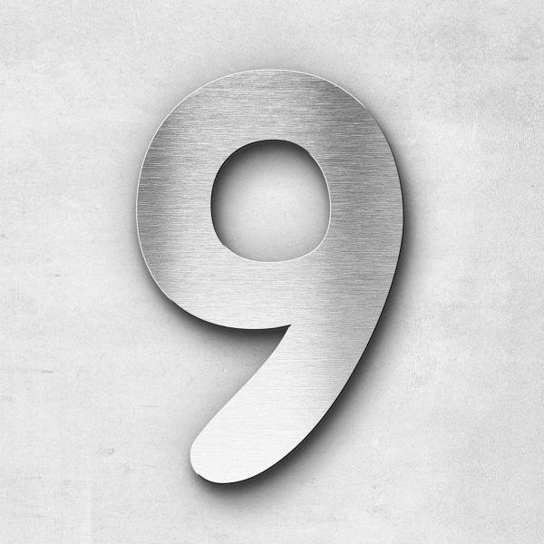 House Number 9 Stainless Steel Darius Series