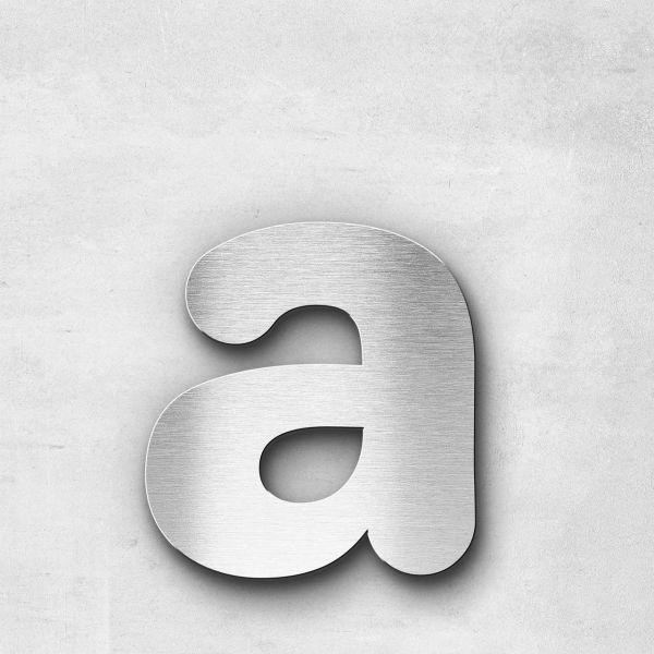 Metal Letter a Lowercase - Classic Series