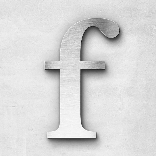 Metal Letter f Lowercase - Serif Series