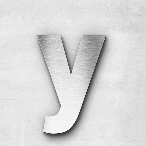 Metal Letter y Lowercase - Sans Series