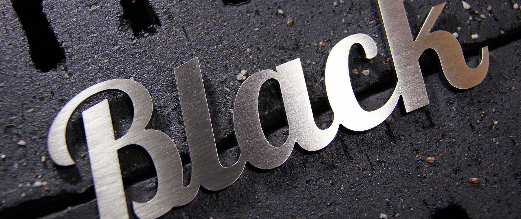 Create Your Custom Lettering Made of Stainless Steel - Black