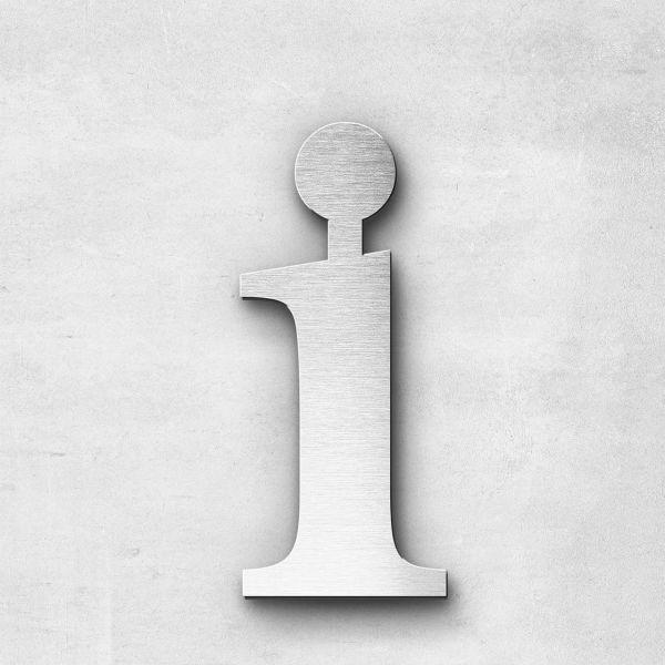 Metal Letter i Lowercase - Serif Series