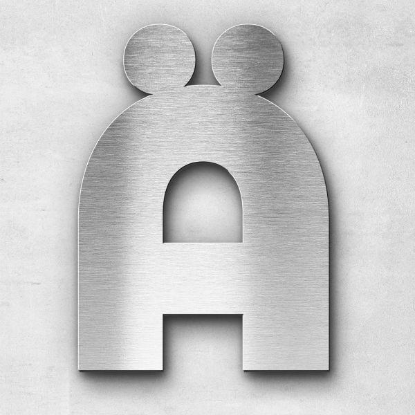 Metal Letter Ä Uppercase - Kontrast Series