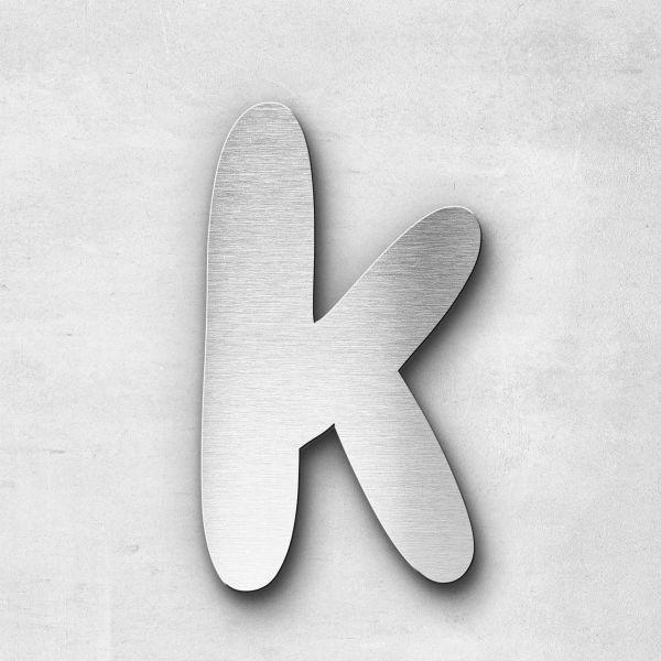 Metal Letter k Lowercase - Darius Series
