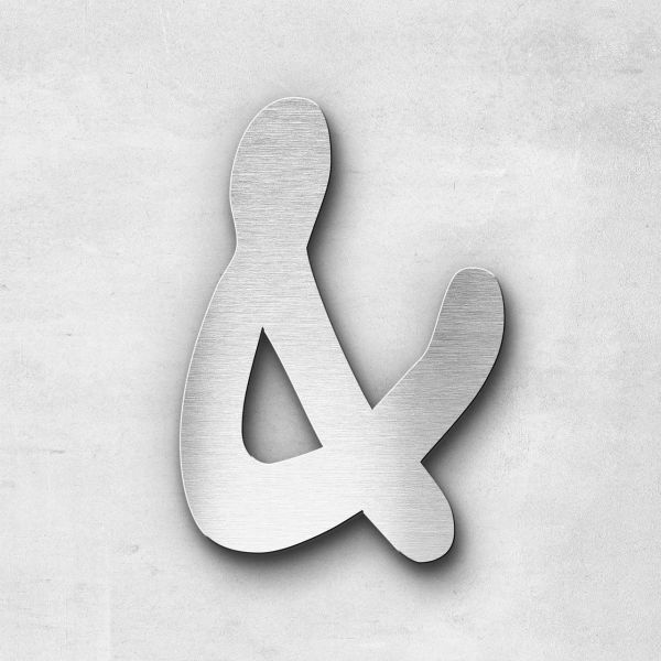 Metal Letter Ampersand Special Character - Malta Series