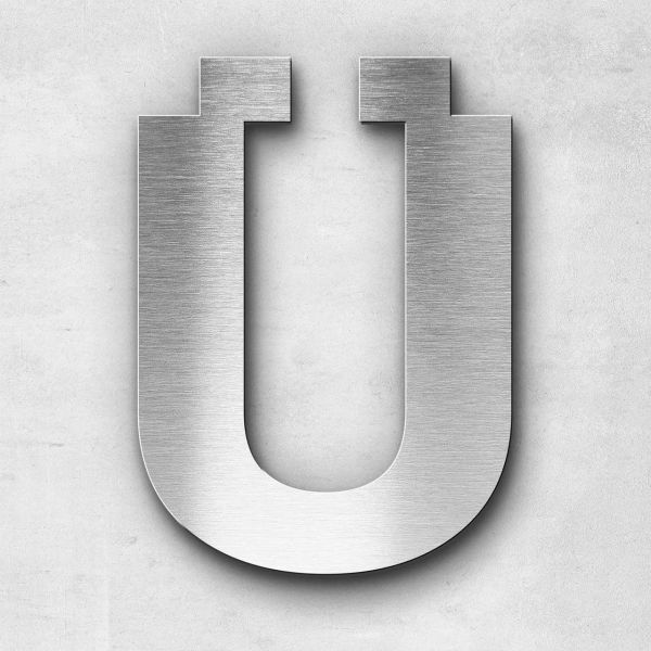 Metal Letter Ü Uppercase - Sans Series