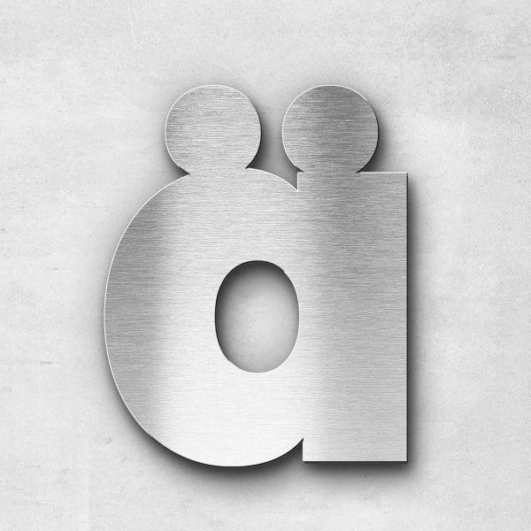 Metal Letter ä Lowercase - Kontrast Series