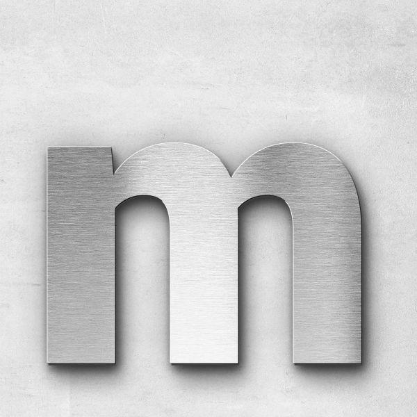 Metal Letter m Lowercase - Sans Series