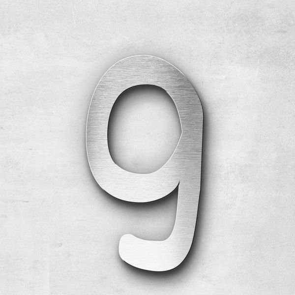 Metal Letter g Lowercase - Malta Series