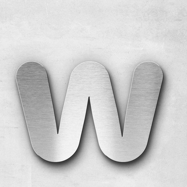 Metal Letter w Lowercase - Classic Series