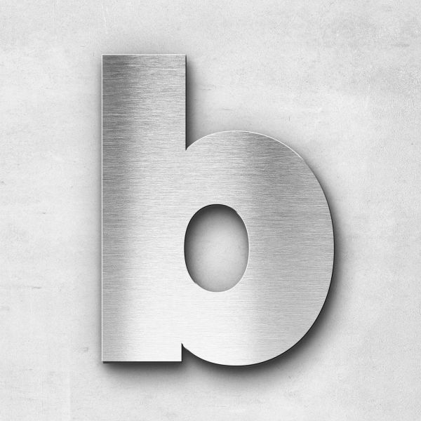 Metal Letter b Lowercase - Kontrast Series