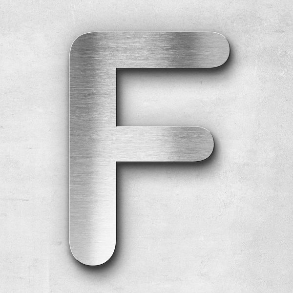 Metal letter F - Series Classic