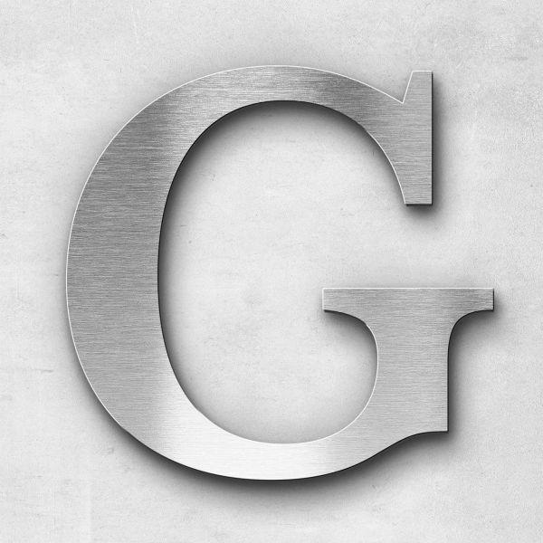 Metal Letter G Uppercase - Serif Series