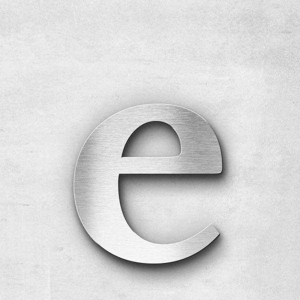 Metal Letter e Lowercase - Serif Series