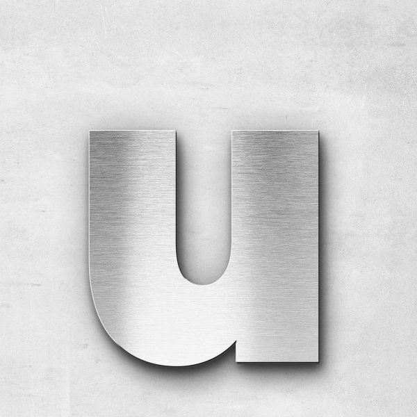 Metal Letter u Lowercase - Kontrast Series