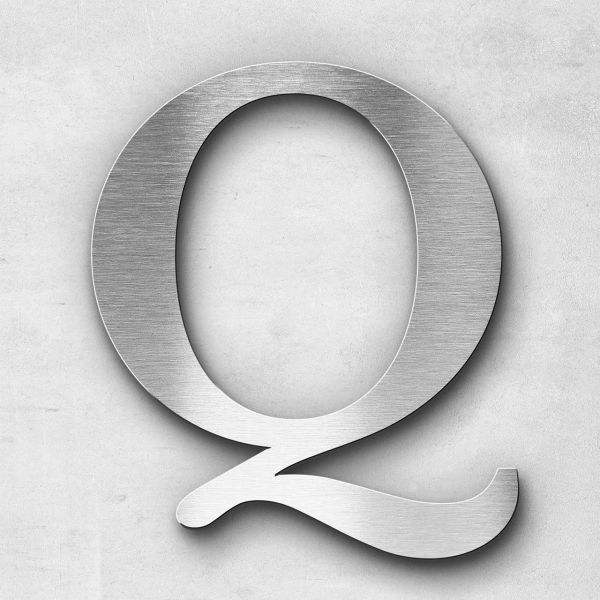 Metal Letter Q Uppercase - Serif Series