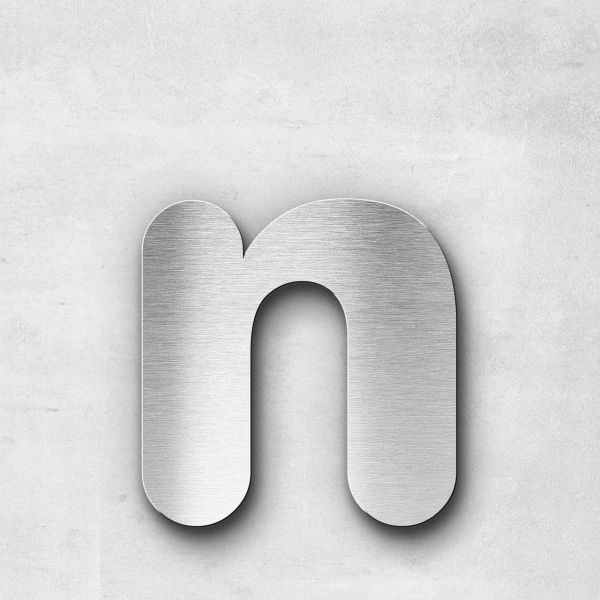 Metal Letter n Lowercase - Classic Series