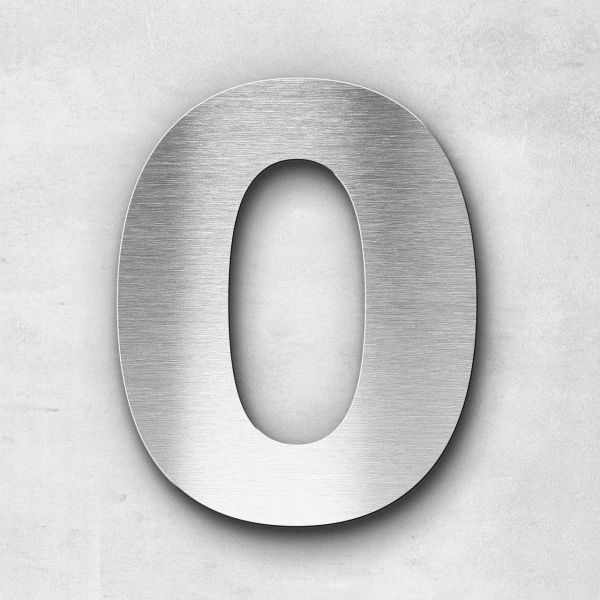 House Number 0 Stainless Steel Classic Series