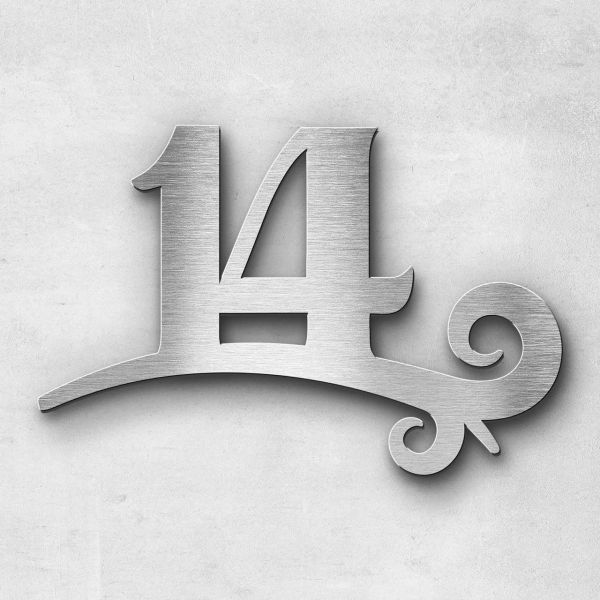 House number - Series Design double-digit