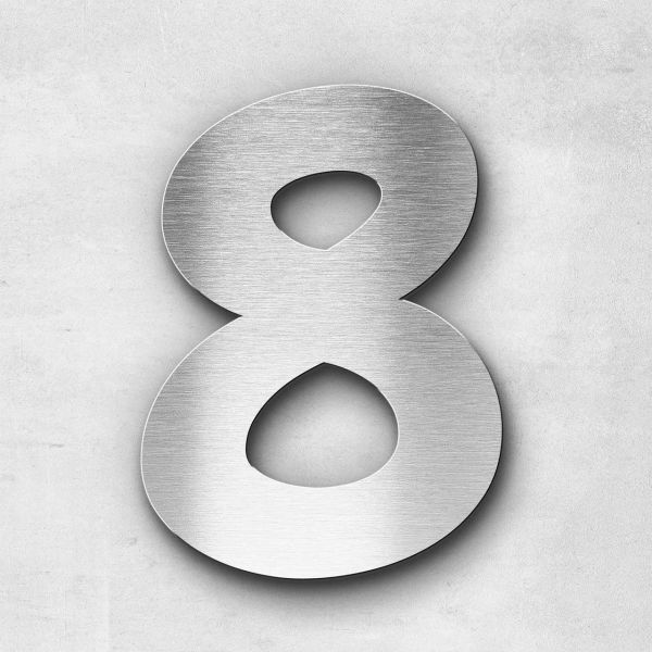 House Number 8 Stainless Steel Darius Series