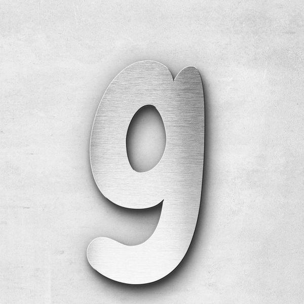 Metal Letter g Lowercase - Darius Series