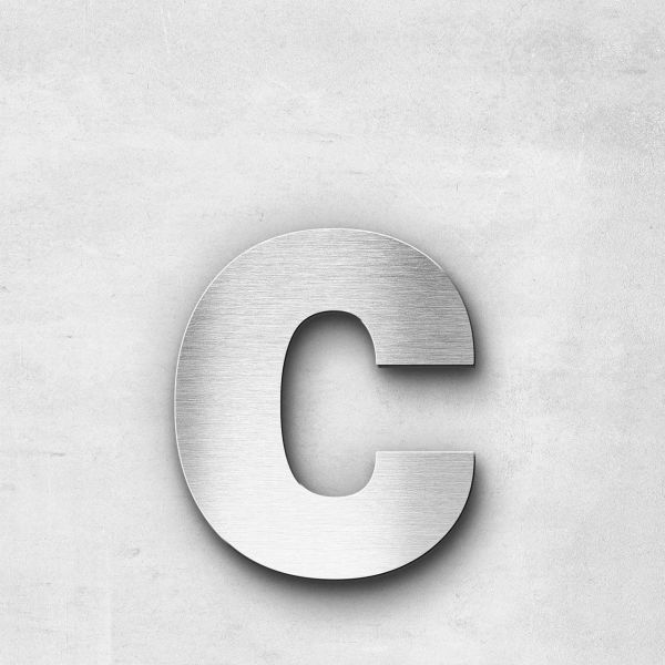 Metal Letter c Lowercase - Sans Series