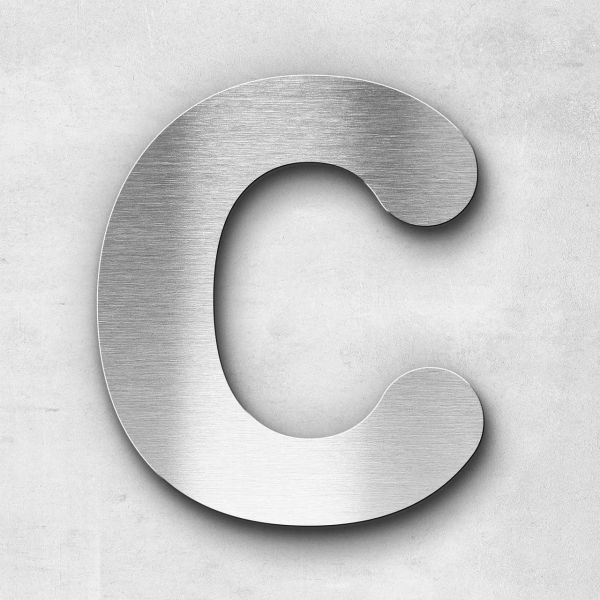 Metal Letter C Uppercase - Classic Series