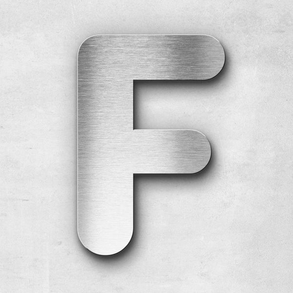Metal Letter F Uppercase - Classic Series