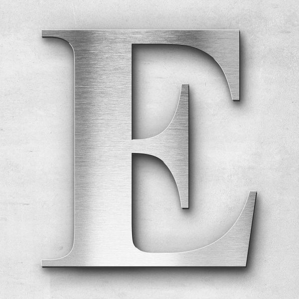 Metal letter E - Series Times