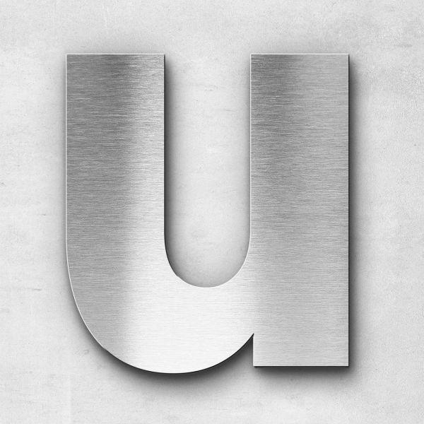 Metal Letter U Uppercase - Kontrast Series