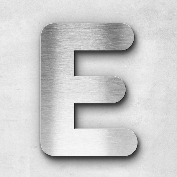 Metal Letter E Uppercase - Classic Series